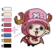 Chopper One Piece Embroidery Design